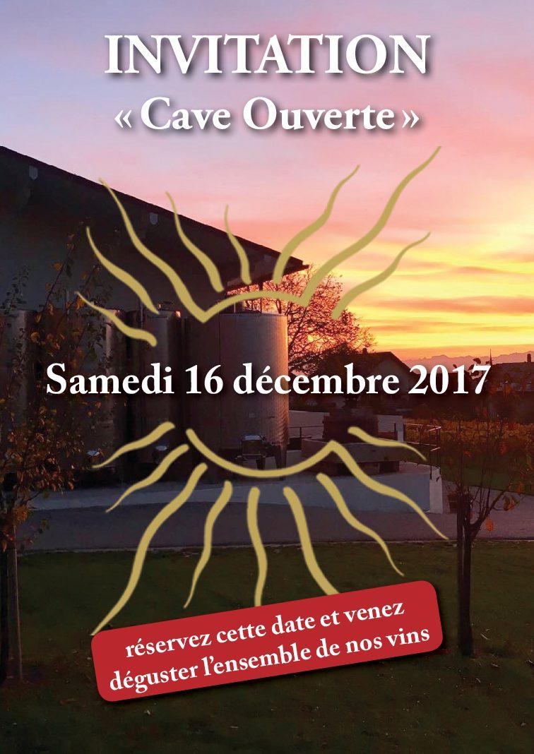 Invitation «Cave Ouverte» le samedi 16 décembre 2017